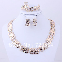 2013 Free shipping  gold plated african wedding gold  jewelry sets