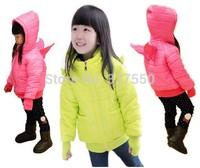 Thicker!!!  2014 Autumn winter children candy kids coat baby jackets outwear kids coat winter GW-090H