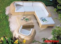 ODSF004 Outdoor sofa, tea table, outdoor garden villa the cane sofa, sofa waterproof courtyard balcony, leisure furniture OD029