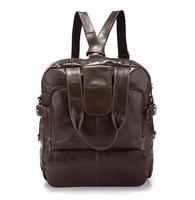 Vintage Cowhide Multifunctional Messenger Bag Casual Brief Genuine Leather Handbags for Women Men Unisex 2 Colors
