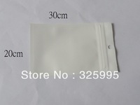 100pcs/lot  20X30CM for phone cover bags ZipLock White Clear Plastic Packaging Retail Hanging Bags Free shipping