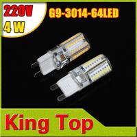 G9 4W 3014 SMD LED Light Corn Bulb Lamp High Lumen Energy Saving 220V Candle crystal chandelier Lighting 5Pcs/Lot