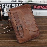 male genuine leather cowhide handmade casual messenger bags female shoulder bag waist bag pack for men