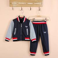 Children's fashion suit  boy'sprotsuit tracksuit 2pcs 1 set children's garment Freeshipping