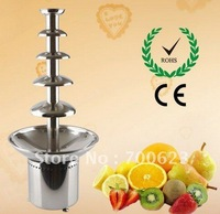2013 hot Sale! ANT-8086 5 tiers Stainless steel commercial chocolate Fountain with  Free Shipping