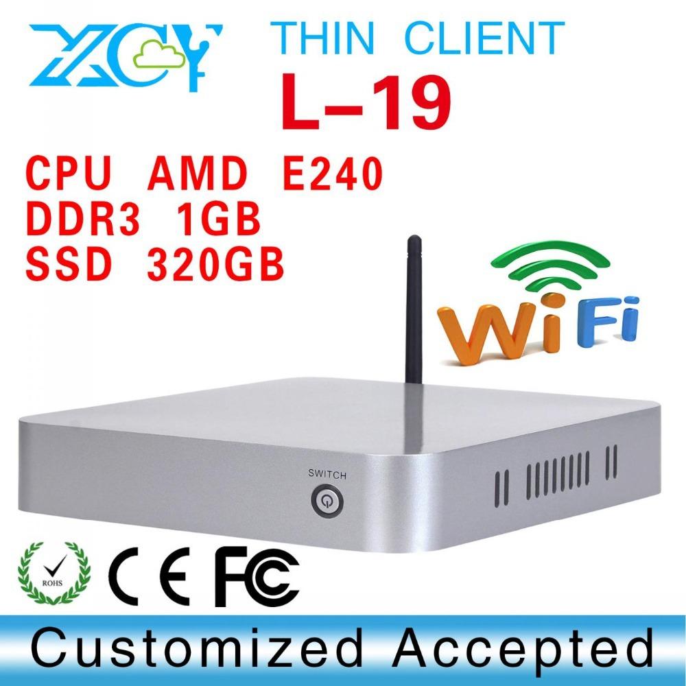E240 CPU 1.5GHZ Thin client mini computer net pc all in on computer XCY L-19 all in on computer(China (Mainland))