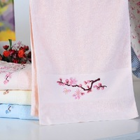 Free Shipping 100% Cotton Plum Blossom Face Towels Hand Towels Salon Towels Novelty Households 76x34cm Wholesale HT201316