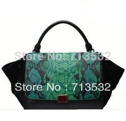 Brand 2013 New Style WOMEN genuine leather shoulder bags crocodile leather phantom wing fringe messenger bag free shipping QYY67