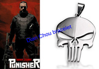 Freeshipping wholesale 50pc a lot The Punisher Steel chain Pendant Fashion Necklace for men and wonen JKL02