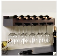 Free shipping Wall wine rack goblet wine glass rack cup holder cup holder wooden wine rack fashion