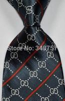 New Silk Classic Stripes Mix Color JACQUARD WOVEN Silk Men's Tie Necktie T4
