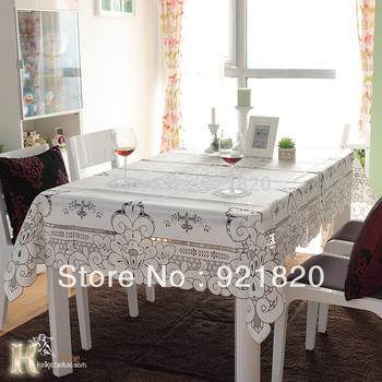 2015 New Cotton Linen White Vintage Table Cloth Table Cover 55x55cm,82x82cm,110x110cm,130x130cm,85x140cm,130x170cm TBC03