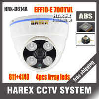 "New arrival 1/3"" Sony Effio-e 700TVLine 960H 811+4140 4pcs Array IR LEDS indoor Plastic Dome CCTV Camera. Free shipping"