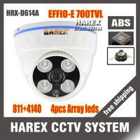 "New arrival 1/3"" Sony Effio-e 700TVLine 960H 811+4140 4pcs Array IR LEDS indoor Plastic Dome CCTV Camera. Free shipping"