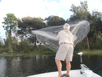Cast Net Fishing Throw Fishing Net.Mesh Size 4 cm. Length 4M,Superior Strength, softer for better performance