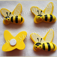 50pcs/lot, 25x28mm,Big wood honeybee sponge stickers,3D Bumble bee sticker,Easter decoration,Fridge stickers,Kids toys.OEM