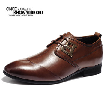 Free Shipping,2013 Men casual oxfords, formal dress shoes,genuine leather,high-quality,black brown,leisure,for fall and winter