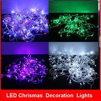 2014 New Christmas Lights 5m 50 Leds AC 110V 220V LED String Lights Home Tree Luminaria Decoration Lamp 2pcs/lot Free Shipping
