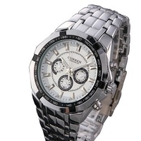 2015 New Curren Men Fashion Quartz Wacthes Stainless Steel Strap Alloy Case Waterproof 10m Sports Military Wristwatch