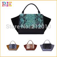 Quality Guaranteed !!Crocodile Stylish Trapeze Big Ears Apparitions Of Bag+ Smiley Bag +genuine leather Dumplings Bag  MBLZ126