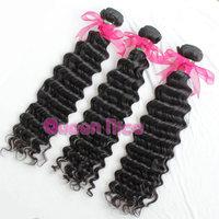 "QNice Hair Brazil hair Deep Wave No processe hair Brazil deep wave Remy and Soft hair weave 8""-30"" FreeShipping"