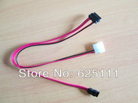 Free shipping 7+ 6pin Slimline SATA Cable for SATA Slim DVD hdd + 2p power extension cable
