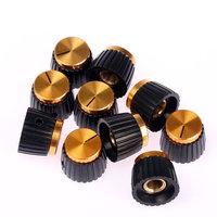10 Pack Gold Cap Amplifier Knobs for MARSHALL Amp JCM 800 900 2000 JMP Plexi