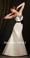custom made white satin sweetheart beaded black waist flower lace appliques backless vintage women wedding dresses 2013