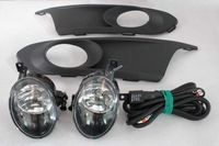 OEM Fog Light Kit Lamp + Grille + Cable for VW Volkswagen Jetta MK6 2011-2013