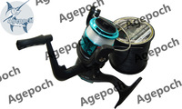 Free Shipping HIGH GEAR RATIO5:2:1 Spinning  Fishing Reels black&bule. plastic spool 3BB SE200 fsihing tackle fish