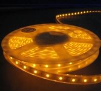 LED Flexible  Strip IP68 (60led/m) Waterproof(plastic tube) 5050SMD 300pcs Yellow -5 meters