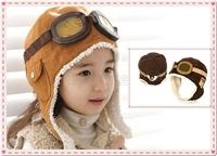 New Cute Baby Toddler Boy Girl Kids Pilot Aviator Cap Warm Hats Earflap Beanie
