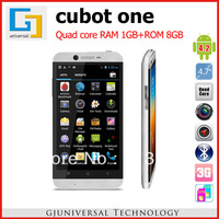 DHL EMS Freeshipping Original Cubot One Smart phone Android 4.2 MTK6589 Quad Core 4.7 Inch HD IPS Screen 1G+8G Unlock Phone