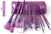 Free Shipping, Purple Professional 18 Pcs Brand  Cosmetics Makeup Brushes Tool  Make up  Brushes Set