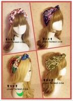 New fashion 13Color hand made wide cotton turban headbands headband hair ornament hair accessory women headwear bandana scarf