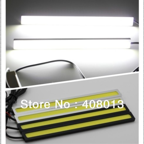 High Power New 12V Daylight 12W COB Car LED DRL 100% Waterproof Bumper Decorative Sticker Daytime Running Light Led FreeShipping(China (Mainland))