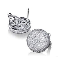 Crystal Earrings For Women Fall Winter Latest Design Fashion Round Best Quality AAA Cubic Zirconia Micro Pave Setting Earrings