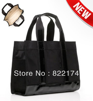 2013 new fashion designer women's nylon shoulder Bags studded  weekender tote handbags with shiny material logo(271)