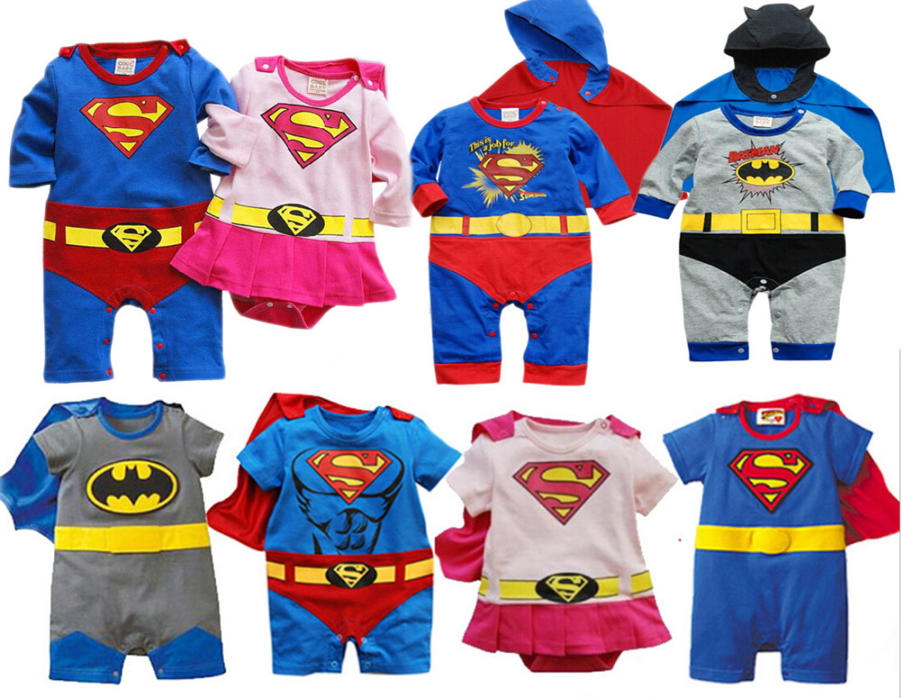 free shipping ! Superman rompers/ Baby romper Long sleeve cool superman design cotton with Embroidery good quality baby clothing(China (Mainland))