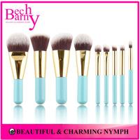 Hot Sale 9 pcs Makeup Brushes Synthetic Hair Makeup Brush Set Lovely Make Up Brushes Mini Cosmetics Brush