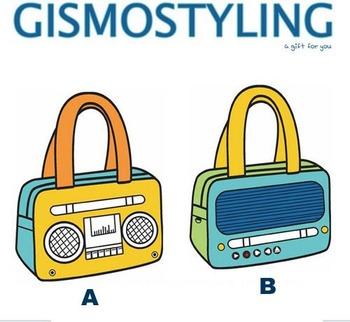 New Arrival radio design handbag cartoon shoulder 3d bag two colors to choose