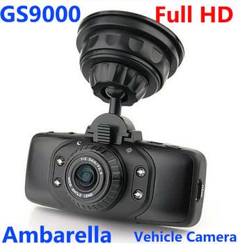 GS9000 Car DVR gps video Recorder vehicle Camera Original Ambarella 1080P Full HD 2.7''  178 Degree  G-Sensor free shipping