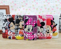 For iphone 4 4s case Cute Micky Minnie Cartoon Styles cell phone cases covers to iphon4 free shipping