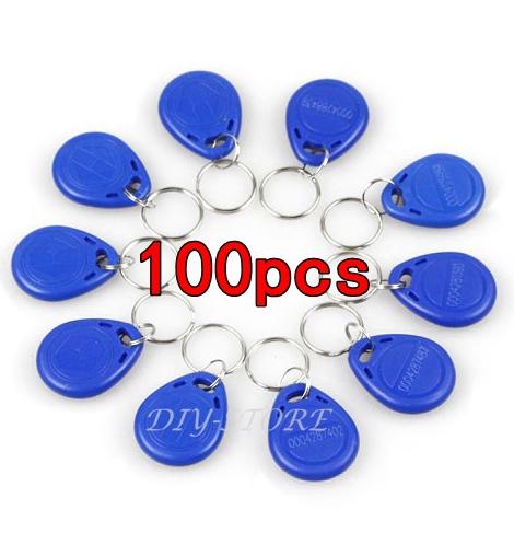 100pcs/lot 125Khz RFID Proximity ID Card Token Tags Key Keyfobs For Access Control System(China (Mainland))