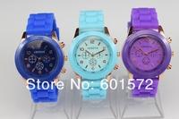 promotion 2014 pupular style,freeshipping 100pcs/lot geneva jelly watch,the cheapest on aliexpress sales,quartz watch