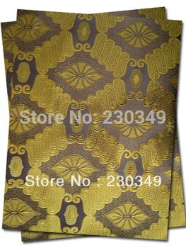 Free shipping African headtie,Head Gear, Sego Gele&Ipele,Head Tie & Wrapper,COFFEE_GOLD 2pcs/set