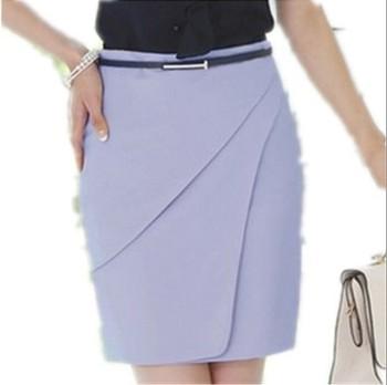 Free Shipping 2014 Spring Female Suit Skirt Trend Work Wear  Skirt Black / White / Light Blue