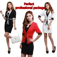 Hot-selling 2014 professional elegant zipper blazer ol slim dress suit for women professional clothing  free shipping