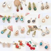 bridal Earrings nature lovely cherry Fashion jewelry Christmas teardrop sunshine textured Birthday Gift rhinestone earrings