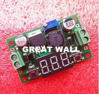 Cheap LM2596 DC 4.0~40 to 1.3-37V Adjustable Step-Down Power Module + LED Voltmeter DC/DC Free Shipping